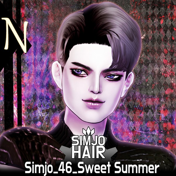 Kim Simjo: Sweet Summer Hair for Sims 4