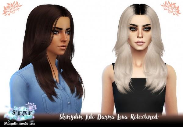 Shimydim: Ade Darma`s Lena Hair Retextured for Sims 4