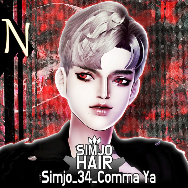 Kim Simjo: Comma YA 34 Hair for Sims 4