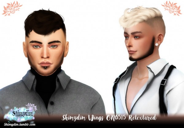 Shimydim: Wings ON0515 Hair Retextured for Sims 4
