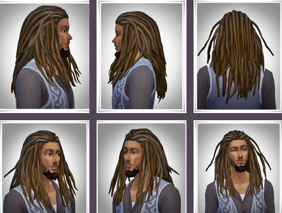 Birksches sims blog: New Bob Dreads for Sims 4