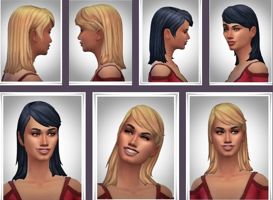 Birksches sims blog: Anne Half Long Hair for Sims 4