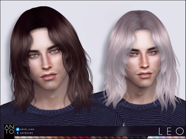 The Sims Resource: Leo Hair by Anto for Sims 4