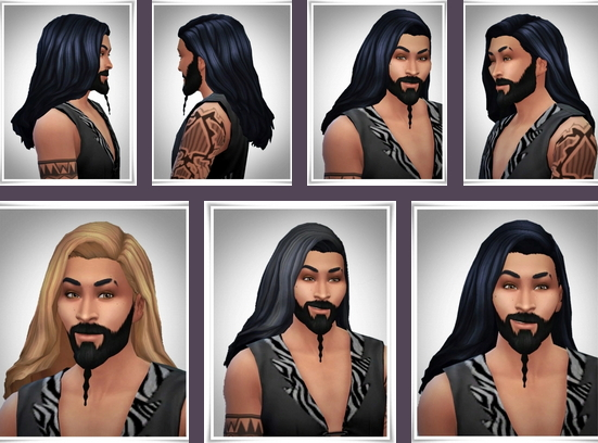 Birksches sims blog: Khal Open Hair for Sims 4
