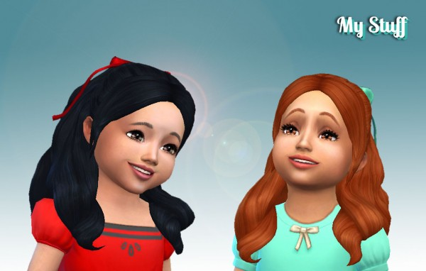 Mystufforigin: Sweet Curls Hair Retextured for Toddlers for Sims 4