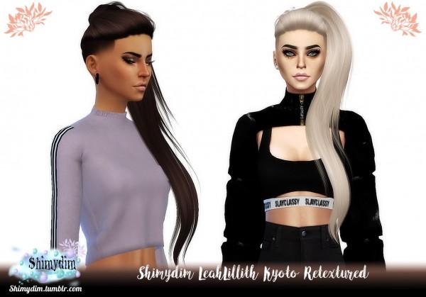 Shimydim: LeahLillith Kyoto Hair Retextured for Sims 4