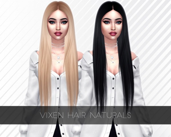 Kenzar Sims: Vixen hair retextured for Sims 4