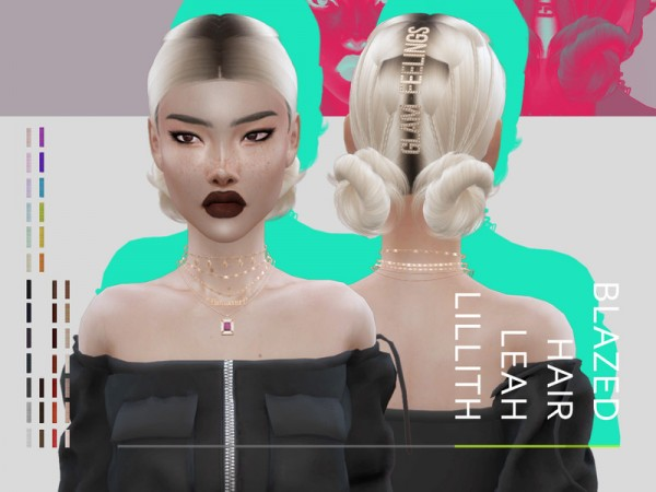 The Sims Resource: Blazed Hair by Leah Lillith for Sims 4