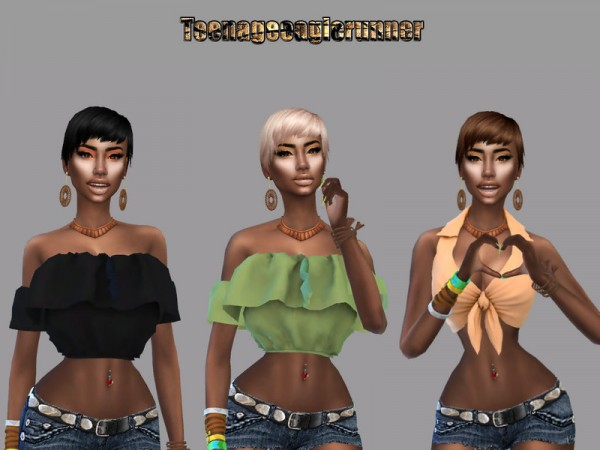 The Sims Resource: Pixie Cut Hair Recolored by Teenageeaglerunner for Sims 4
