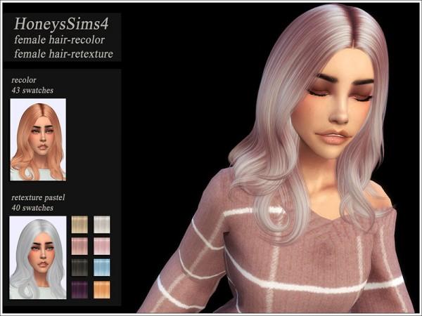The Sims Resource: NightCrawler`s Trouble Hair Retextured by Jenn Honeydew Hum for Sims 4