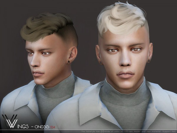 The Sims Resource: WINGS ON0515 Hair for Sims 4