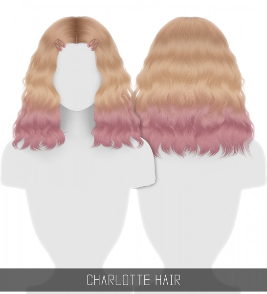 Simpliciaty: Charlotte Hair for Sims 4