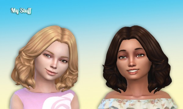 Mystufforigin: Felicia Hair Retextured for Girls for Sims 4