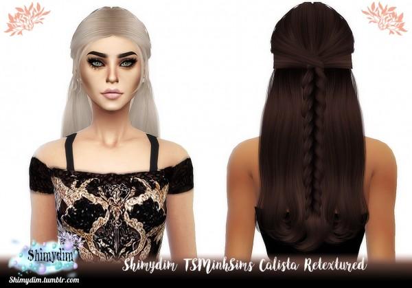 Shimydim: TSMinh`s Calista Hair Retextured for Sims 4