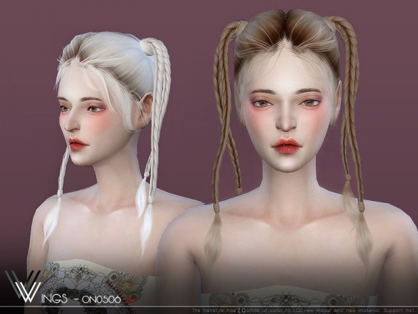 The Sims Resource: WINGS ON0506 hair for Sims 4