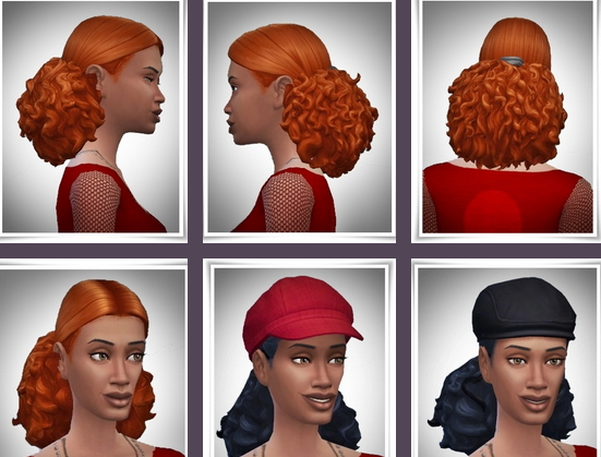 Birksches sims blog: Gina Curls for Sims 4