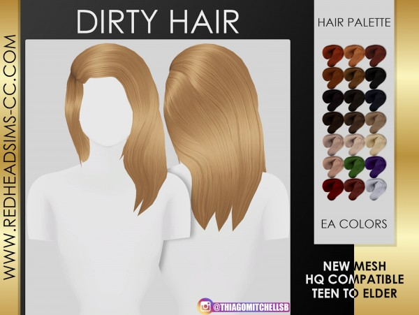 Coupure Electrique: Dirty Hair for Sims 4