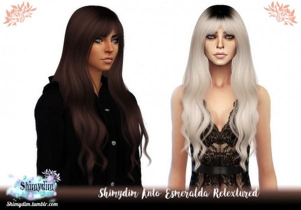Shimydim: Anto`s Esmeralda Hair Retextured for Sims 4