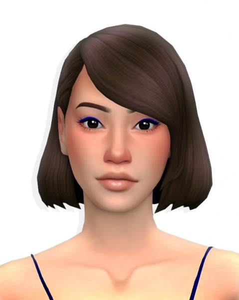 Simandy: Blues Hair for Sims 4