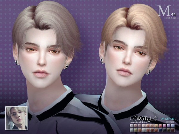 The Sims Resource: SeHun n44 hair by S Club for Sims 4