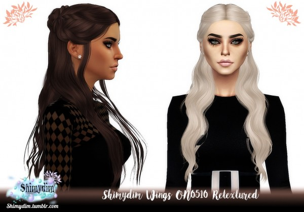 Shimydim: Wings ON0510 Hair Retextured for Sims 4