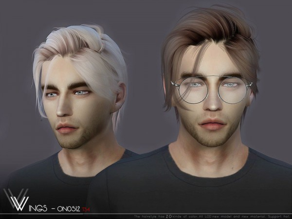 The Sims Resource: WINGS ON0512 hair for Sims 4