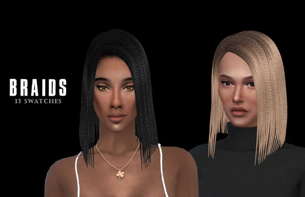 Leo 4 Sims: Braids for Sims 4