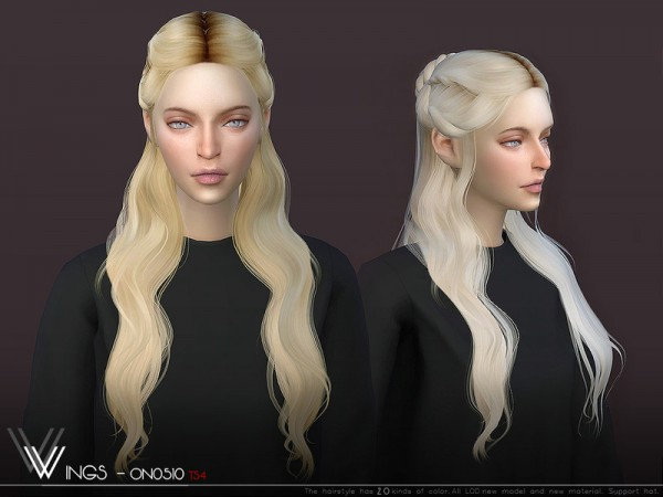 The Sims Resource: WINGS ON0510 Hair for Sims 4