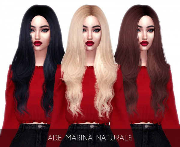 Kenzar Sims: Ade darma`s Marina hair retextured for Sims 4