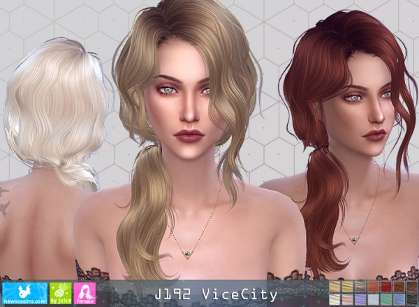 NewSea: J192 Vice City Hair for Sims 4