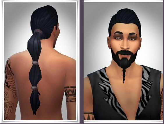 Birksches sims blog: Drogo New Ponytail for Sims 4