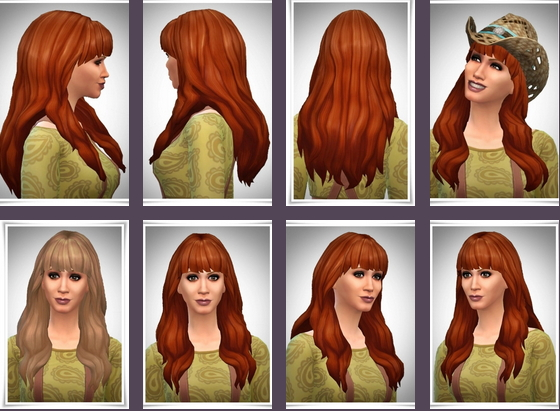 Birksches sims blog: Long Wavy Bangs Hair for Sims 4