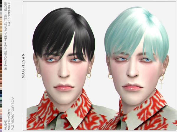 The Sims Resource: Mikrokosmos Hair by magpiesan for Sims 4
