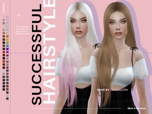 The Sims Resource: Successful Hair by Leah Lillith for Sims 4