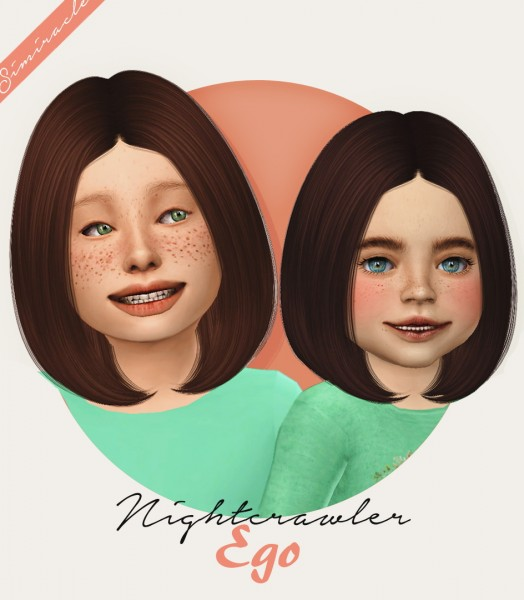 Simiracle: Nightcrawler`s Ego hair retextured for Sims 4