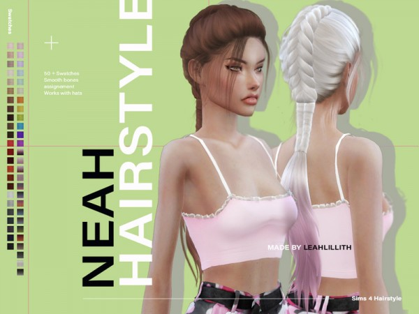 The Sims Resource: Neah Hair by Leah Lillith for Sims 4