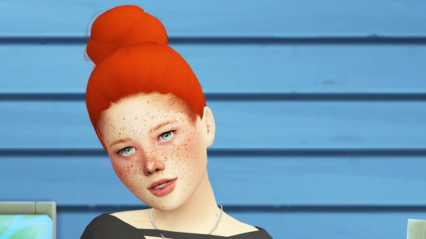 Coupure Electrique: Simpliciaty`s Selice hair retextured   child version for Sims 4