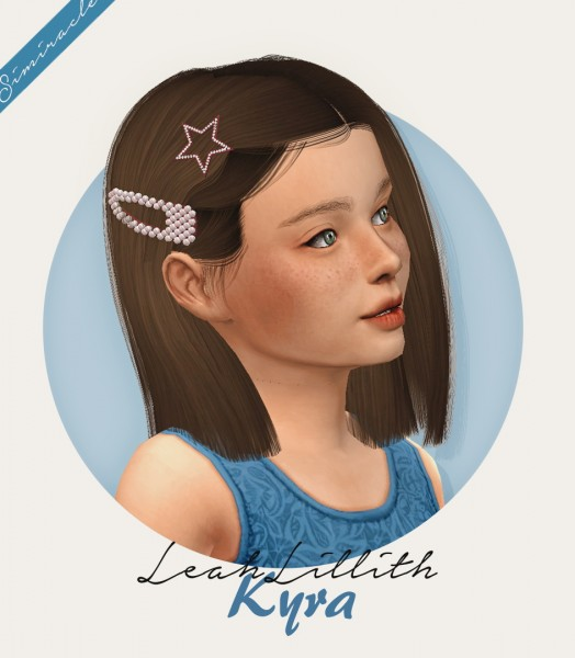 Simiracle: LeahLillith`s Kyra hair retextured   Kids Version for Sims 4