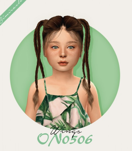 Simiracle: Wings ON0506 hair retextured   Kids Verison for Sims 4