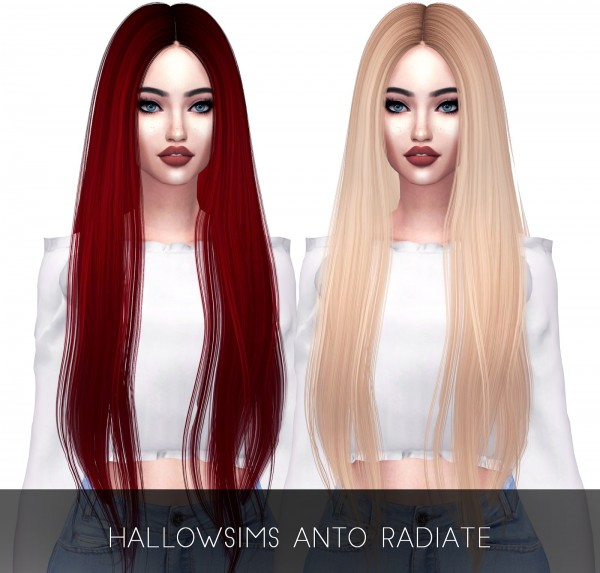 Kenzar Sims: Radiate hair retextured for Sims 4