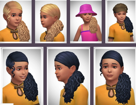 Birksches sims blog: Child Of The Sea Hair for Sims 4