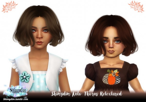 The Sims Resource: Anto`s Thorns Hair Retextured for Sims 4