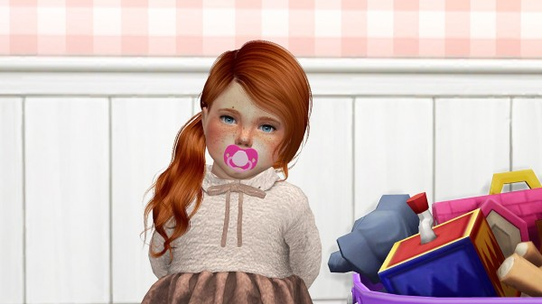 Coupure Electrique: Anto`s Honey Hair Retextured   toddler version for Sims 4