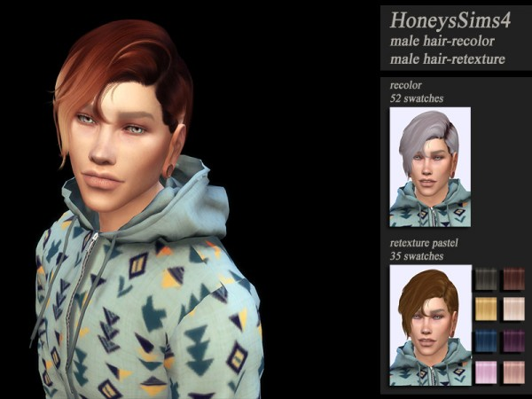 The Sims Resource: Wings OE1218 hair retextured by Jenn Honeydew Hum for Sims 4