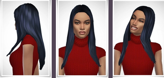 Birksches sims blog: Naomi's Long Straight Hair for Sims 4