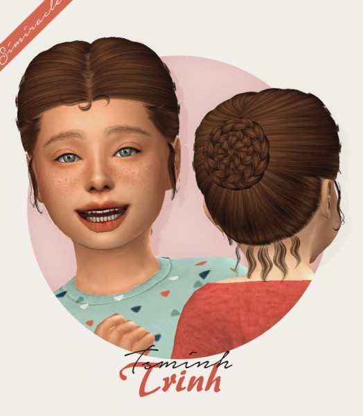 Simiracle: Tsminh`s Trinh Hair retextured for Sims 4