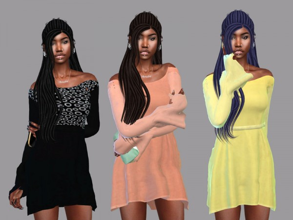The Sims Resource: Focus Dreds Hair Recolor by Teenageeaglerunner for Sims 4