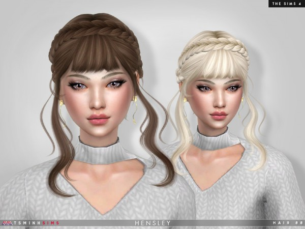 The Sims Resource: Hensley Hair 88 by TsminhSims for Sims 4