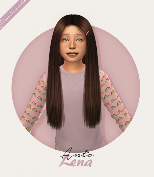 Simiracle: Anto`s Lena hair retextured   Kids Version for Sims 4