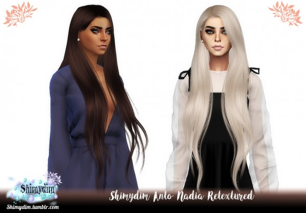 Shimydim: Anto`s Nadia hair retextured for Sims 4